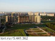 Строительство жилого микрорайона в Балашихе - квартал Лукино (2013 год). Стоковое фото, фотограф Дмитрий Бакулин / Фотобанк Лори