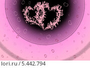 Купить «Открытка. Сердца», эксклюзивная иллюстрация № 5442794 (c) Svet / Фотобанк Лори