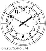 Купить «Настенные цифровые часы», иллюстрация № 5446574 (c) Катыкин Сергей / Фотобанк Лори
