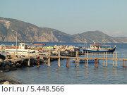 Купить «Причал на острове Закинтос (Греция)», фото № 5448566, снято 4 июня 2013 г. (c) Хименков Николай / Фотобанк Лори