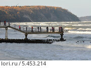 Купить «Набережная Светлогорска», фото № 5453214, снято 29 октября 2013 г. (c) Сергей Куров / Фотобанк Лори