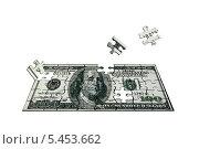 Доллар в виде пазла. Стоковая иллюстрация, иллюстратор Ольга / Фотобанк Лори