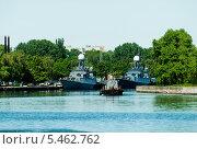 Купить «Российские боевые корабли в Балтийске», фото № 5462762, снято 7 ноября 2013 г. (c) Сергей Буторин / Фотобанк Лори