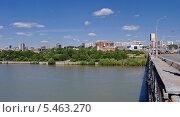 Купить «Вид на правый берег города Новосибирска с моста через Обь», фото № 5463270, снято 5 июня 2009 г. (c) Nikitin / Фотобанк Лори