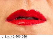 Купить «Женские губы крупным планом», фото № 5466346, снято 13 октября 2013 г. (c) Сергей Дубров / Фотобанк Лори