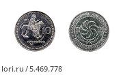 Купить «Монета десять тетри, Грузия», фото № 5469778, снято 16 августа 2013 г. (c) Евгений Ткачёв / Фотобанк Лори