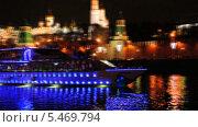 Купить «Встреча Нового Года на теплоходе напротив Кремля», эксклюзивный видеоролик № 5469794, снято 10 января 2014 г. (c) Алёшина Оксана / Фотобанк Лори