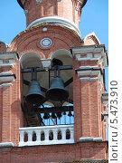 Купить «Ярус звона колокольни церкви Преображения Господня в Спас-Тушине», эксклюзивное фото № 5473910, снято 19 августа 2011 г. (c) lana1501 / Фотобанк Лори
