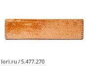 Старый деревянный ящик, изолированно на белом фоне. Стоковое фото, фотограф Фесенко Сергей / Фотобанк Лори