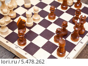 Купить «Шахматная партия в разгаре», фото № 5478262, снято 23 ноября 2013 г. (c) Кекяляйнен Андрей / Фотобанк Лори