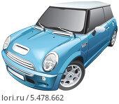 Купить «Голубой легковой автомобиль», иллюстрация № 5478662 (c) Геннадий Поддубный / Фотобанк Лори