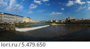 Италия. Флоренция. Вид на реку Арно (2013 год). Стоковое фото, фотограф Евгений Кулагин / Фотобанк Лори