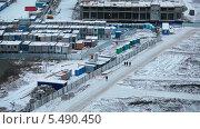 Купить «Строительная площадка зимой», видеоролик № 5490450, снято 15 января 2014 г. (c) Кекяляйнен Андрей / Фотобанк Лори