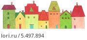Купить «Яркие красочные домики. Карандашный рисунок», иллюстрация № 5497894 (c) Irina Ustinova / Фотобанк Лори