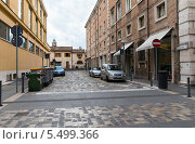 Купить «Улицы курортного города Римини. Италия», фото № 5499366, снято 3 ноября 2013 г. (c) Евгений Ткачёв / Фотобанк Лори