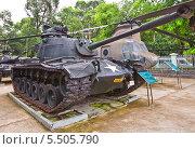Купить «Американский средний танк M48 «Паттон III» во дворе Музея Жертв Войны. Хошимин, Вьетнам», фото № 5505790, снято 18 сентября 2013 г. (c) Иван Марчук / Фотобанк Лори