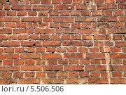 Купить «Кирпичная стена», эксклюзивное фото № 5506506, снято 6 июня 2013 г. (c) Алёшина Оксана / Фотобанк Лори