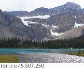 Ледник Crowfoot, Британская Колумбия, Канада. Стоковое фото, фотограф Galina Vydryakova / Фотобанк Лори