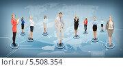 Купить «люди в виртуальной социальной сети», фото № 5508354, снято 15 октября 2018 г. (c) Syda Productions / Фотобанк Лори