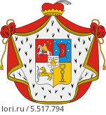 Купить «Герб князей Черкасских», иллюстрация № 5517794 (c) VectorImages / Фотобанк Лори