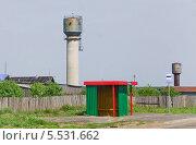 Купить «Автобусная остановка на трассе в Нижегородской области», эксклюзивное фото № 5531662, снято 24 мая 2013 г. (c) Алёшина Оксана / Фотобанк Лори