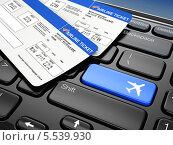 Купить «Онлайн-бронирование авиабилетов», иллюстрация № 5539930 (c) Maksym Yemelyanov / Фотобанк Лори