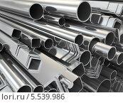 Купить «Металлические профили и трубы», иллюстрация № 5539986 (c) Maksym Yemelyanov / Фотобанк Лори