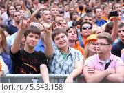 Купить «Зрители на трибунах во время концерта в саду Эрмитаж, Москва», фото № 5543158, снято 23 июня 2012 г. (c) Losevsky Pavel / Фотобанк Лори