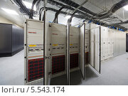 Купить «Несколько открытых телекоммуникационных стоек в серверной комнате», фото № 5543174, снято 18 мая 2012 г. (c) Losevsky Pavel / Фотобанк Лори