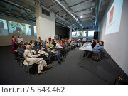 Купить «Люди на пресс-конференции в Центральном доме художников 19 сентября 2012 года в Москве», фото № 5543462, снято 19 сентября 2012 г. (c) Losevsky Pavel / Фотобанк Лори