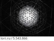 Купить «Абстрактный черно-белый шар на черном фоне», фото № 5543866, снято 28 декабря 2012 г. (c) Losevsky Pavel / Фотобанк Лори