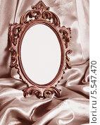 Купить «Красивая винтажная рамка на драпировке», фото № 5547470, снято 7 февраля 2012 г. (c) Типляшина Евгения / Фотобанк Лори