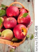 Свежие яблоки и груши в корзине. Стоковое фото, фотограф Валентина Габдракипова / Фотобанк Лори
