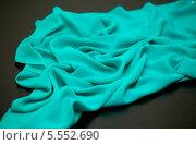 Купить «Шелковый шарфик цвета морской волны», фото № 5552690, снято 14 августа 2013 г. (c) Morgenstjerne / Фотобанк Лори
