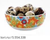 Миска с перепелинными яйцами. Стоковое фото, фотограф Insomnia / Фотобанк Лори