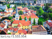 Купить «Вид на город Любляна, Словения», фото № 5555954, снято 3 сентября 2013 г. (c) Иван Нестеров / Фотобанк Лори