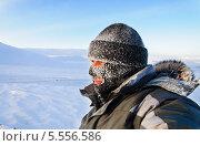 Купить «Портрет мужчины в шапке и лыжной маске с инеем. Зимний мороз», фото № 5556586, снято 14 января 2014 г. (c) Андрей Радченко / Фотобанк Лори