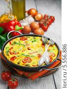 Купить «Омлет с овощами и сыром. Фриттата», фото № 5556886, снято 4 февраля 2014 г. (c) Надежда Мишкова / Фотобанк Лори