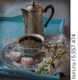 Купить «Романический завтрак в день святого Валентина», фото № 5557474, снято 5 февраля 2014 г. (c) Олеся Сарычева / Фотобанк Лори