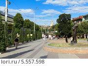 Купить «Улица Бараташвили - одна из центральных улиц Тбилиси. Грузия», фото № 5557598, снято 3 июля 2013 г. (c) Евгений Ткачёв / Фотобанк Лори