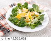 Свежий салат с кедровыми орешками. Стоковое фото, фотограф Денис Афонин / Фотобанк Лори