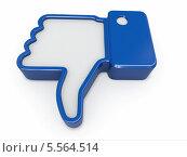 """""""Не нравится"""", значок на белом фоне. Стоковая иллюстрация, иллюстратор Maksym Yemelyanov / Фотобанк Лори"""