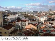 Вид на Лиссабон с подъемника Санта-Жуста (2011 год). Редакционное фото, фотограф Дмитрий Булатов / Фотобанк Лори