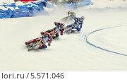 Купить «Мотогонки на льду», фото № 5571046, снято 9 февраля 2014 г. (c) Зюкалин Дмитрий Михайлович / Фотобанк Лори