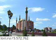 Купить «Мечеть им. Р.Г. Галеева. Альметьевск», фото № 5572762, снято 26 июня 2012 г. (c) александр афанасьев / Фотобанк Лори