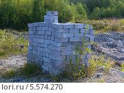 Штабель серых кирпичей. Стоковое фото, фотограф Pavel Kozlovsky / Фотобанк Лори