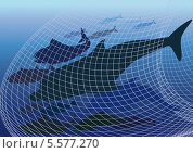 Опасный лов рыбы. Стоковая иллюстрация, иллюстратор Валентина Шибеко / Фотобанк Лори