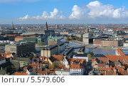Купить «Вид на Копенгаген со шпиля церкви Спасителя, Дания», фото № 5579606, снято 7 ноября 2010 г. (c) Михаил Марковский / Фотобанк Лори