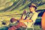 Довольный турист пьет чай у палатки в горах, фото № 5579770, снято 26 июля 2007 г. (c) Serg Zastavkin / Фотобанк Лори