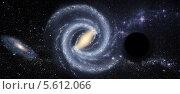 Купить «Черная дыра в космическом пространстве», иллюстрация № 5612066 (c) Наталья Спиридонова / Фотобанк Лори